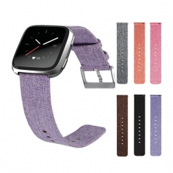 Canvas-Watch-Band-Strap-With-Buckle-Connector-Replacement-Wristband-For-Fitbit-Versa-1307811