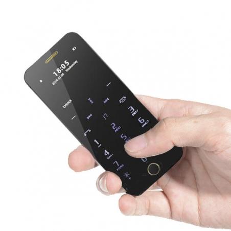 Anica A9+ Ultra Thin Dual SIM Bluetooth MP3 680mAh Remote Control Mini Card Phone