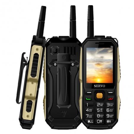 SERVO P20 2.4'' 4000mAh Antenna Analog TV Voice Change OTG Quad Band 3 SIM Card Feature Phone