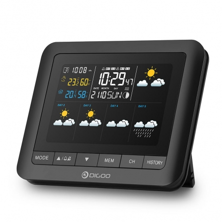Digoo DG-TH8805 Wireless Five Day Forcast Version Weather Station Full-Color Screen Digital USB Outdoor Barometric Pressure Hyg