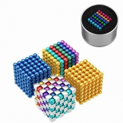 216PCS-5mm-Cube-Buck-Ball-Mixcolour-Magnetic-Toys-Neodymium-N35-Magnet-1390692