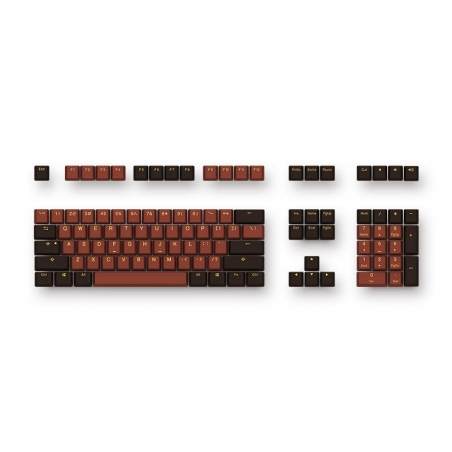 Akko X Ducky 108 Key OEM Profile PBT Chocolate Keycaps Keycap Set for Mechanical Keyboard
