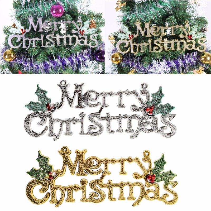 Christmas Words.Merry Christmas Words Ornament Pendant Wall Door Xmas Tree Hanging Decoration