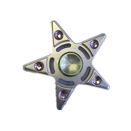Zinc alloy Five - pointed Diamond Finger Spinner For Autism And ADHD Rotation Stress Gift