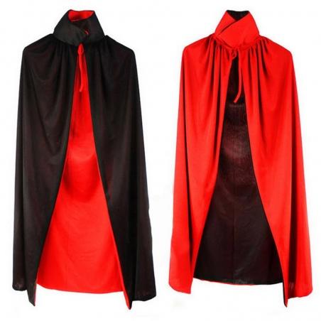 Wizard Black Cloak Robe Vampire Adult Kids Costume Halloween Costume