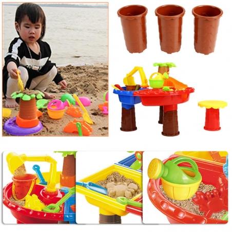 22Pcs/set Kids Beach Toy Sand Playing Toys Fun Summer Water Multiplayer Toos Kit