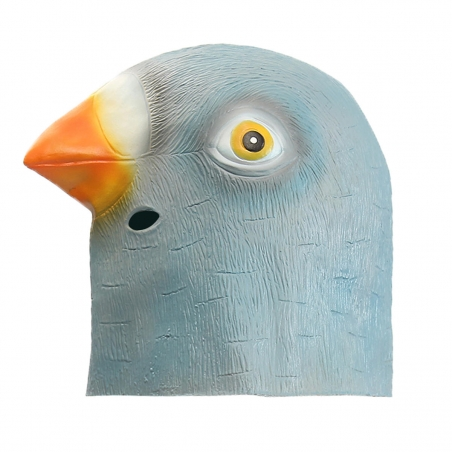 Pigeon Head Mask Creepy Animal Halloween Costume Theater Prop Latex Party Toy