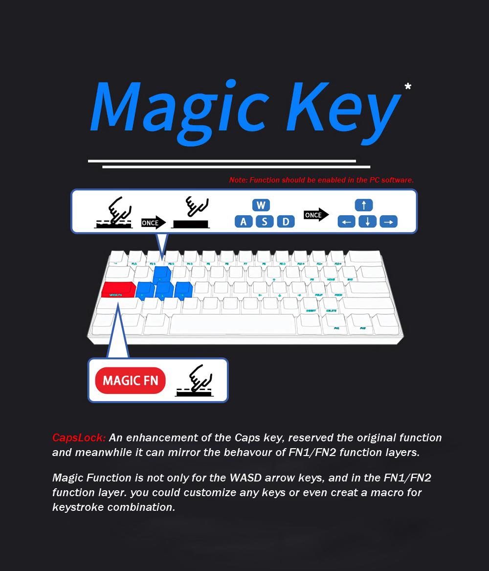 Cherry MX Switch]Obins Anne Pro 2 60% NKRO bluetooth 4 0 Type-C RGB