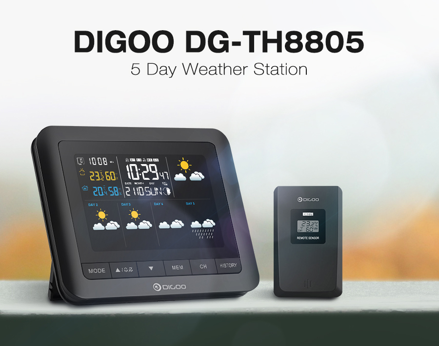 Digoo-DG-TH8805-Wireless-Five-Day-Forcast-Version-Weather-Station-Full-Color-Screen-Digital-USB-Outdoor-Barometric-Pressure-Hygrometer-Humidity-Thermometer-Temperature-with-Outdoor-Sensor-Clock-1248355